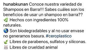 Shampoo en barra orgánicos