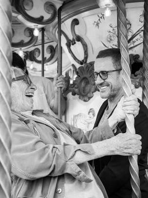 Pierre Richard & Dany Boon Tournage La Ch'tite Famille