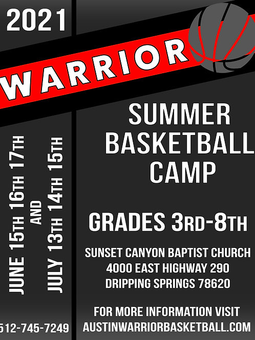 JUNE AND JULY - Basketball Camp Payment