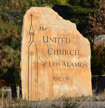 United Church of Los Alamos sign