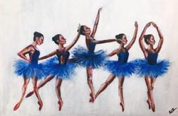 Blue ballerinas