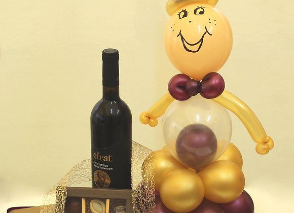 פרלינים יין ובלונים בכיף