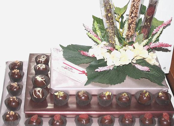 מארז שוקולד פרחוני