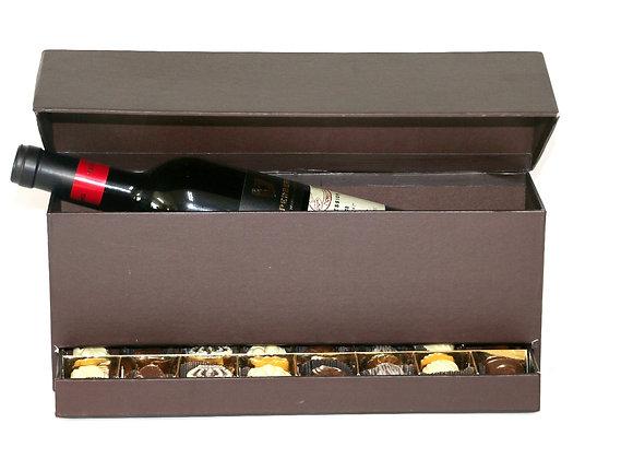 שש עשרה פרלינים עם יין