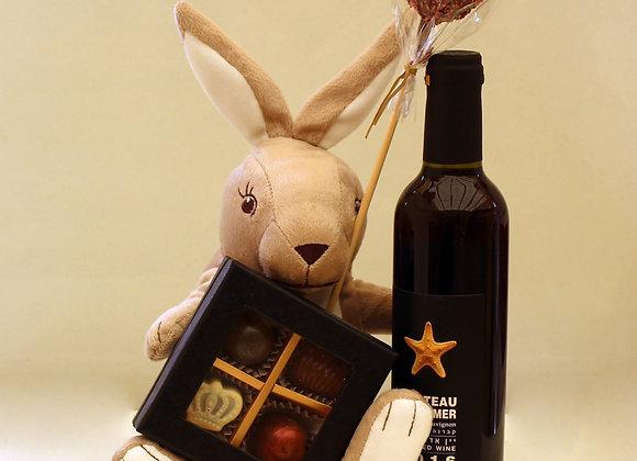 יין פרלינים וארנבת מפרווה