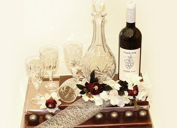 פרלינים דיקנטר כוסות ויין