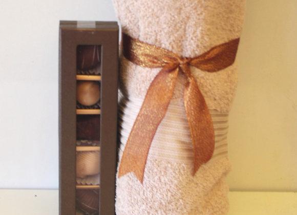 מגבת ושוקולד