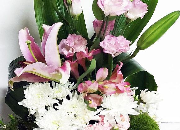 שזירת פרחים גודל בינוני