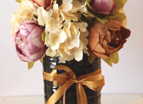 פרחי משי באגרטל קרמיקה