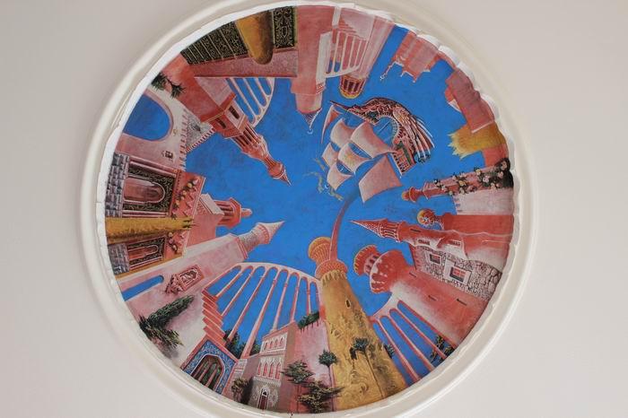 """Картина на стелі """"Середньовічне місто"""""""