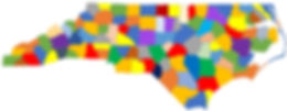 nc map with colors counties blank more p
