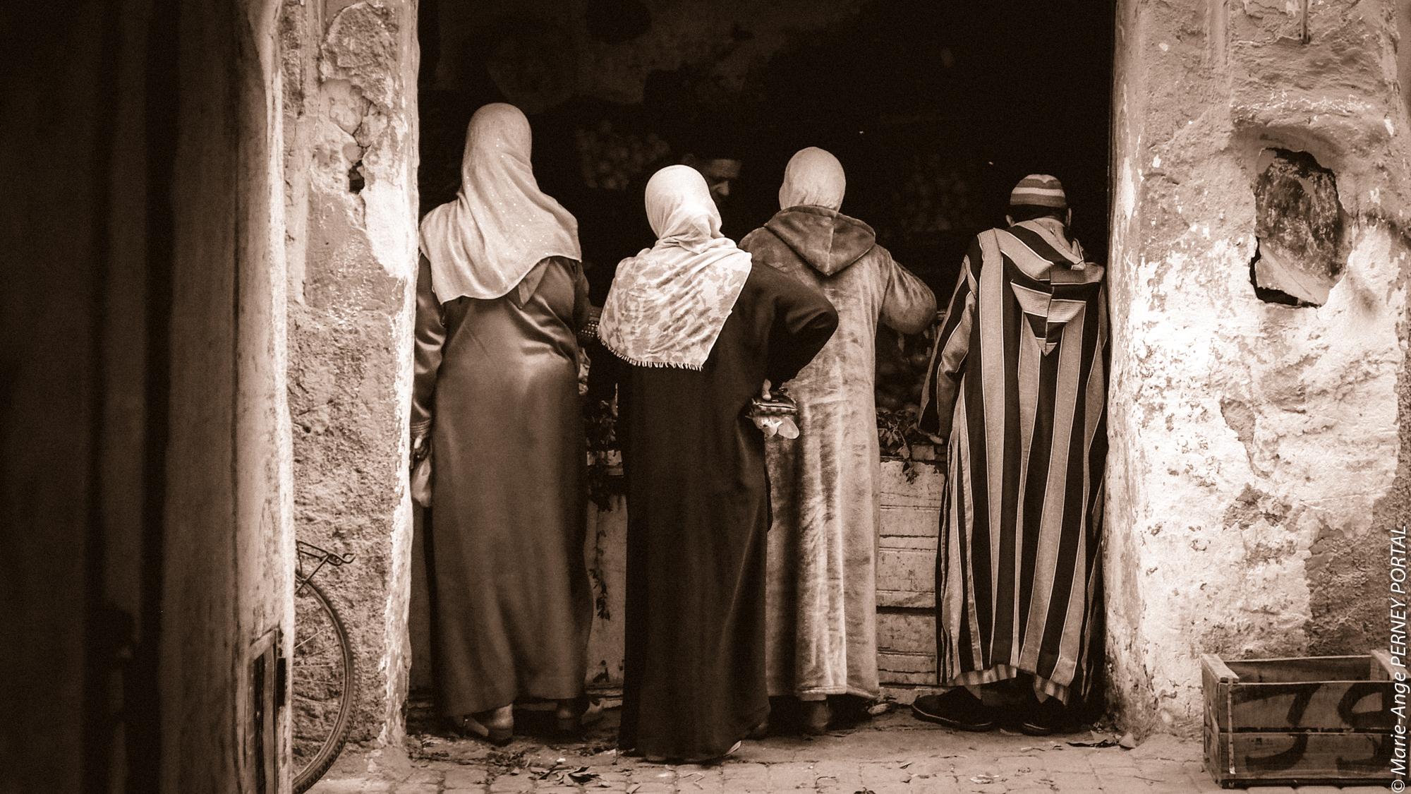 Marrakech - regard de photographe sepia