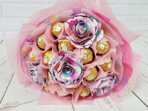 Ferraro Roucher Bouquet with Origami paper roses