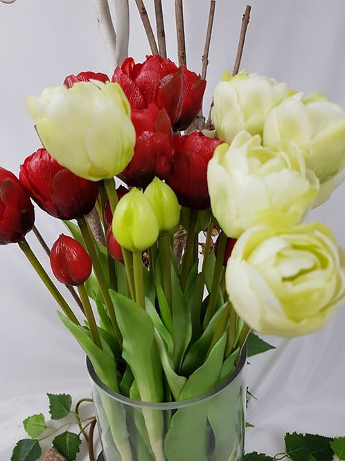 "Real to touch ""Tulips"" - sell in bunch of 5 stems"