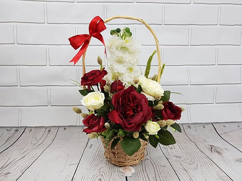 Red & White mini basket