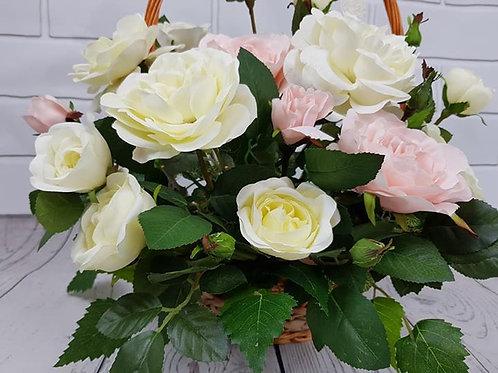 Garden roses basket