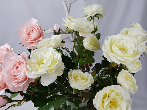 """Real to touch """"English Rose with bud"""""""