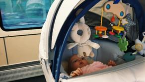Erste Zugfahrt mit Baby