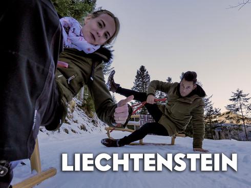 Schnee-Ausflug im Liechtenstein