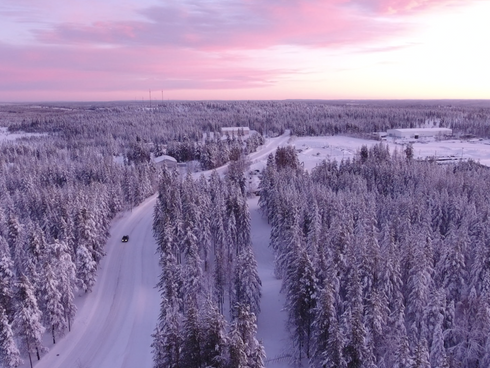 Lichtspiel in Lappland