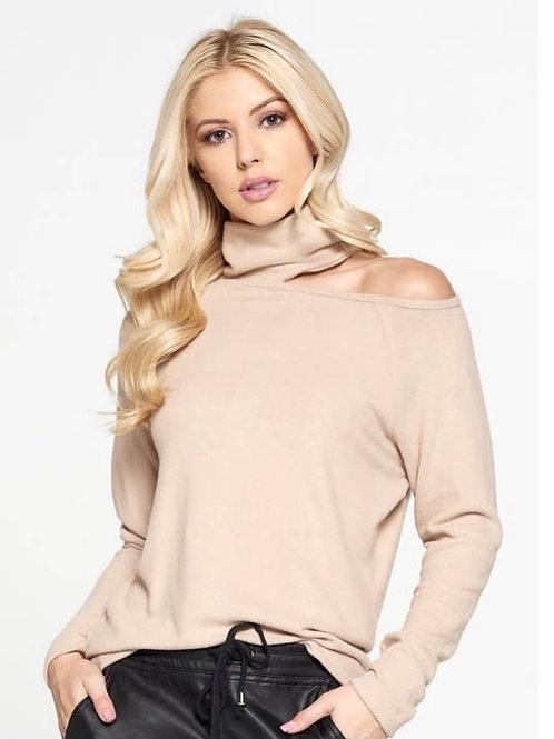 ReneeC. Cut out Mockneck Sweater
