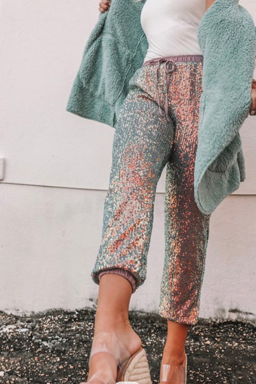 Judith March Sequin Joggers