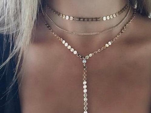 Y shape gold triple strand