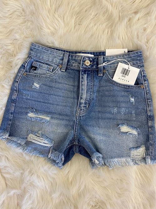 KanCan Destructed Jean Shorts