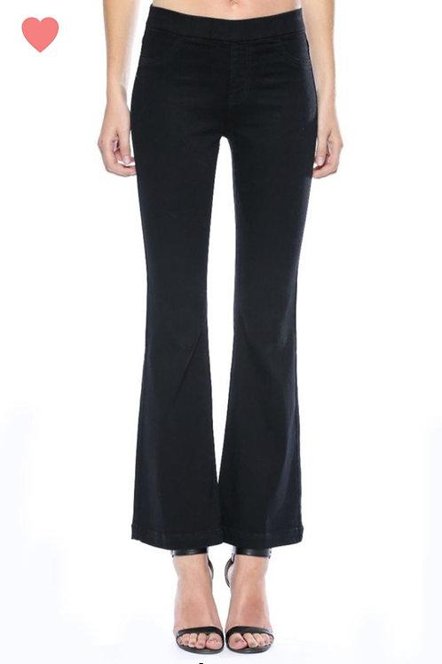 Black Holly Bell Bottom Jeans