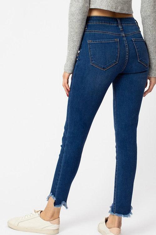 Kancan City Jeans  distressed ankle Med Wash