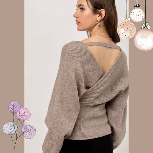 Love Tree First Class Taupe Sweater