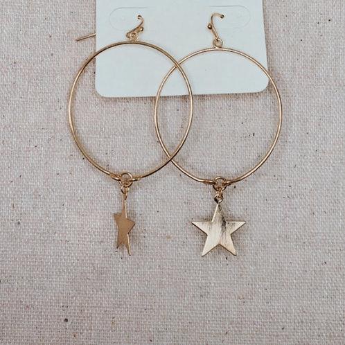 Star Dangle Hoops