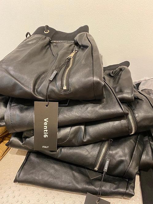 Leather Jogger Venti 6 Italy