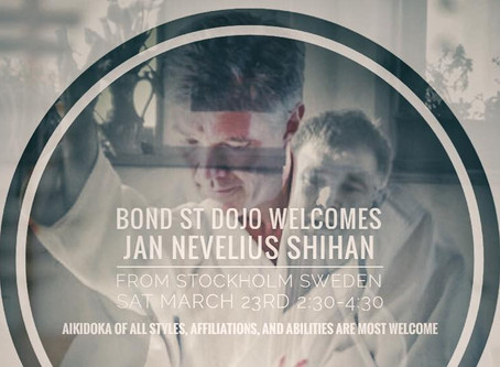 Jan Nevelius Shihan - Special Class March 20, 21 & 23rd