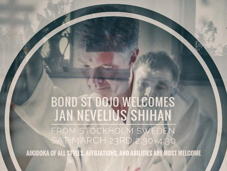 Jan Nevelius Shihan - Special Class March 20, 21 & 23rd