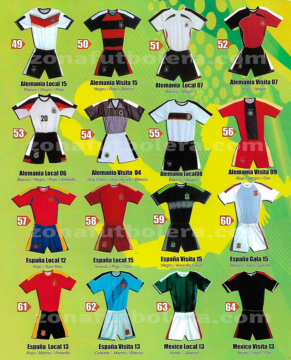 Uniformes de Soccer Catalogo