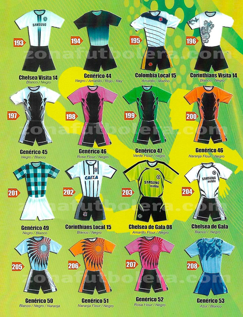 Uniformes de Soccer Genericos
