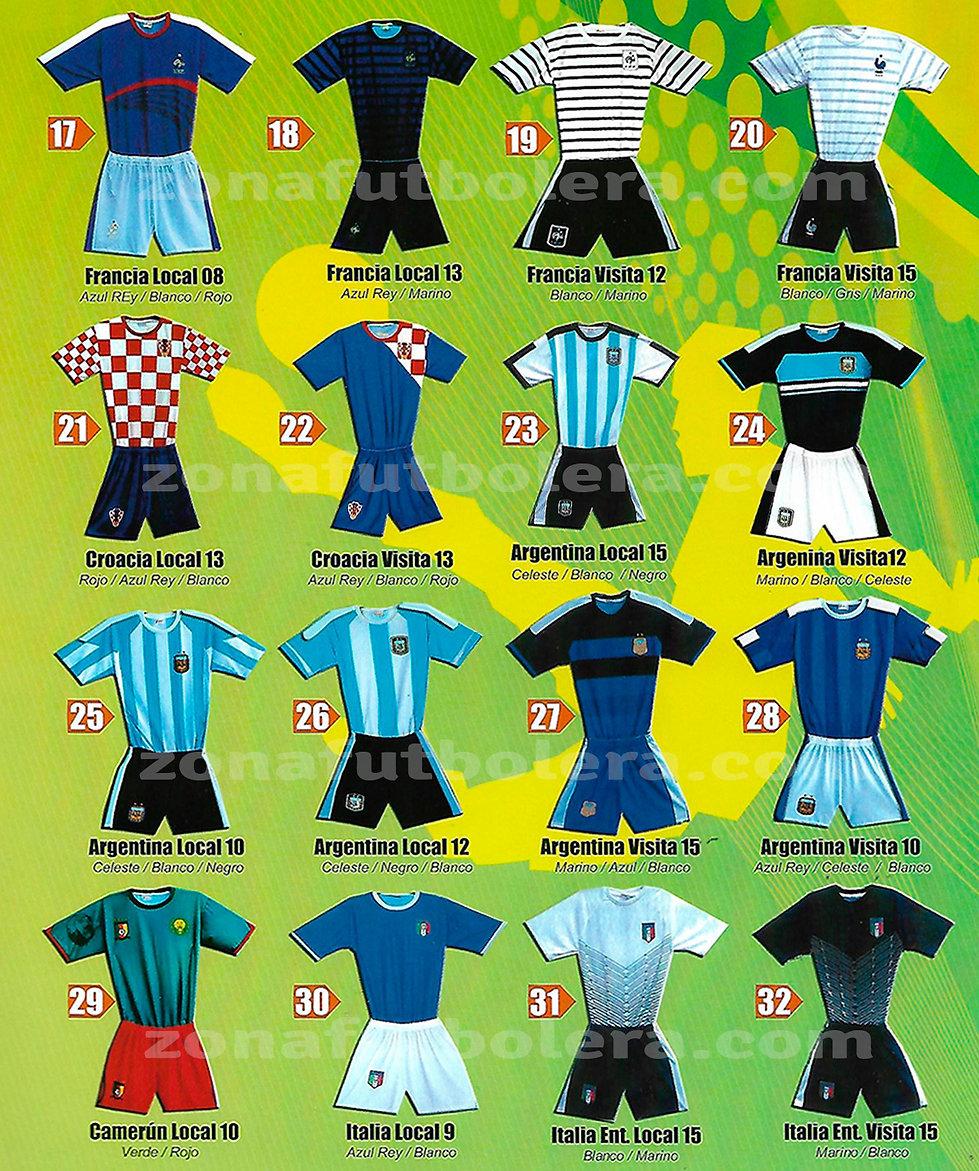 Uniformes de Futbol Catalogo