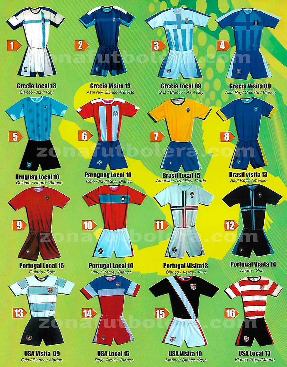 Catalogo Uniformes de Futbol