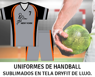 Uniformes de Handball, Uniformes de Balonmano