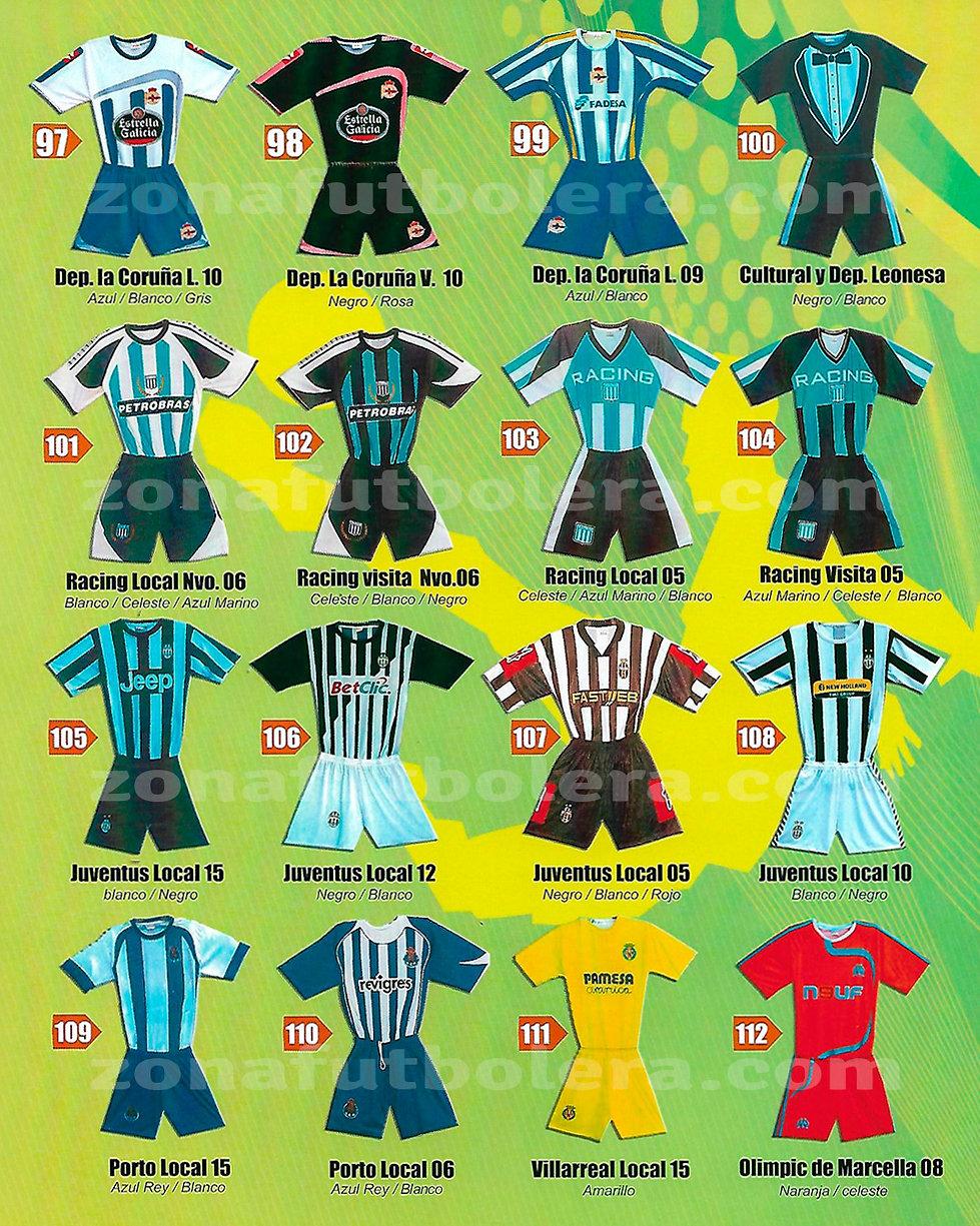 Uniformes de Futbol Europeos
