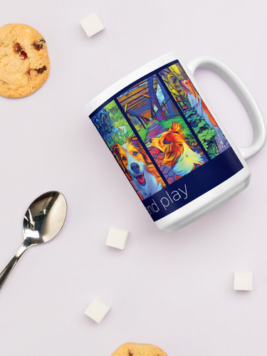 15oz Mug with up to 3 images