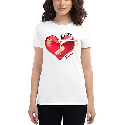 Bandage Heart Women's Short Sleeve T-Shirt