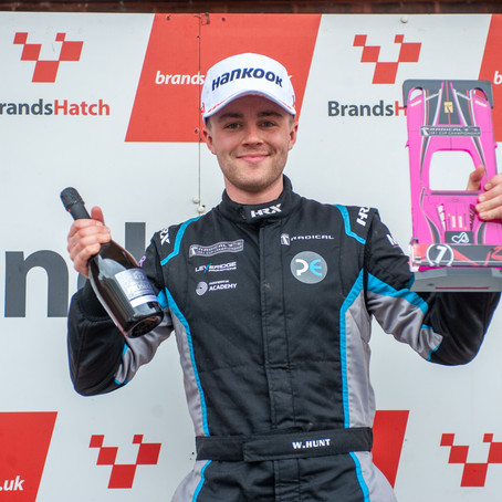 Will Hunt extends winning streak and points lead at rain-hit Brands Hatch