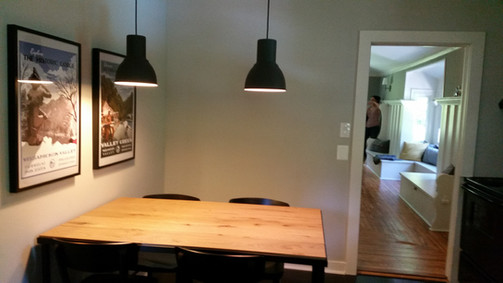 Eat-in kitchen accent lighting