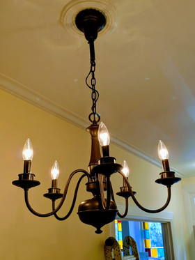 Custom chandelier rescue