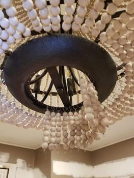 Hanging light beads