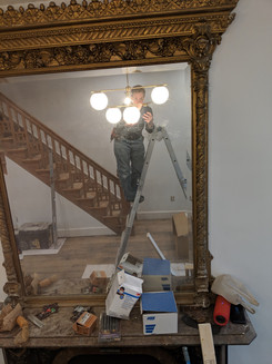 Electrician in the mirror