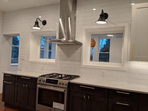 Bright, shiny kitchen