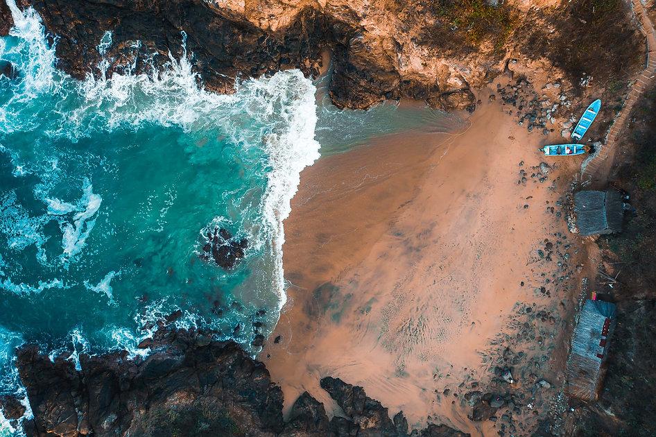 Пляж любовника в Мексике